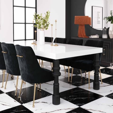 """Spindle 96"""" Lacquer Dining Table"""