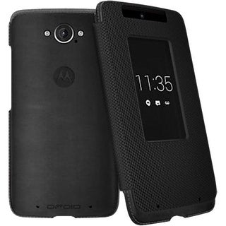 Motorola Flip Case for Motorola Droid Turbo XT1254 - Black Leather/Ballistic Nyl
