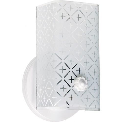 "Nuvo Lighting 76/273 Single Light 7"" Bathroom Fixture with Diamond ""U"" Channel Glass"