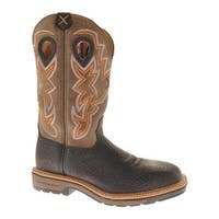 Twisted X Boots Men's MLCS005 Oiled Black/Brown Leather