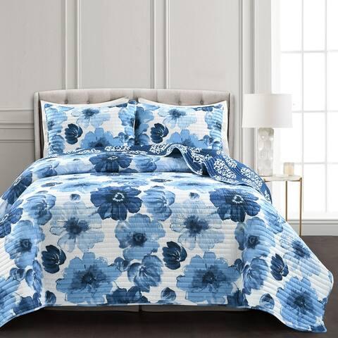 Levine Floral 3-piece Quilt Set