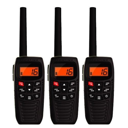 Uniden Atlantis 270 (3-Pack) Marine VHF Radio with Power Boost PTT Key