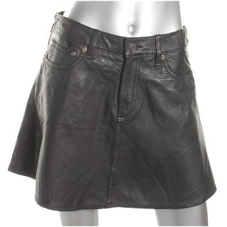 Denim & Supply Ralph Lauren Womens Mini Skirt Leather Mini