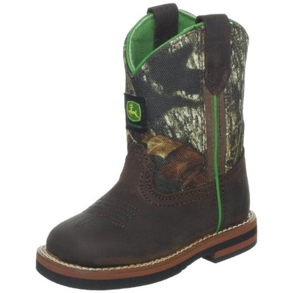 John Deere Boys Johnny Poppers Cowboy, Western Boots Toddler Leather