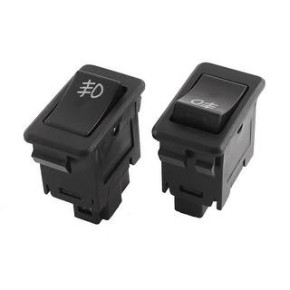 shop black 5 pins car foglight lamp on off rocker switch dc 12v fit