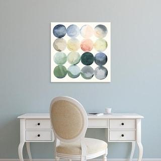 Easy Art Prints Grace Popp's 'Pastel Hoops I' Premium Canvas Art