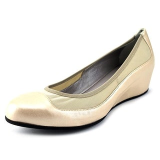 Aquatalia By Marvin K Ursala Women Open Toe Leather Ivory Wedge Heel