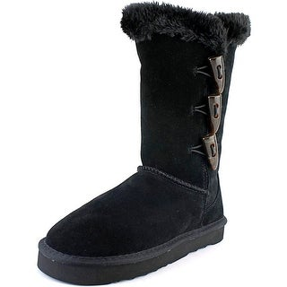 Style & Co Bellaa Women Round Toe Suede Black Winter Boot