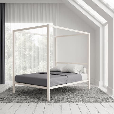 Avenue Greene Gia Metal Canopy Bed