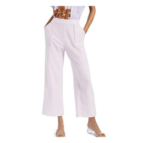ALFANI Womens Light Purple Tie Wide Leg Pants Size L - Light Purple