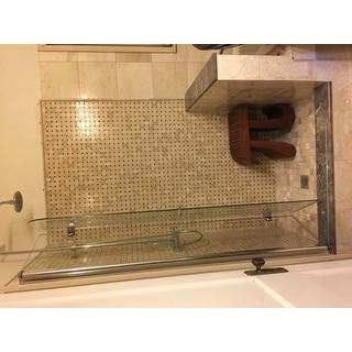DreamLine Aqua Fold 33 1/2 in. W x 72 in. H Frameless Bi-Fold Shower Door
