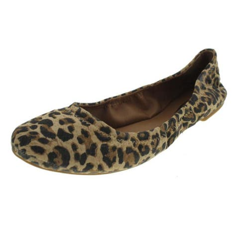 Lucky Brand Womens Emmie Ballet Flats Leather Leopard Print - Luxe Leopard - 5.5 Medium (B,M)