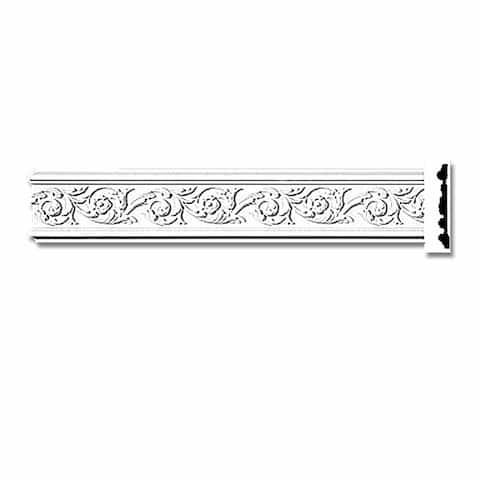 "Crown Molding White Urethane 4 3/8"" H Radcliff Ornate Renovator's Supply"