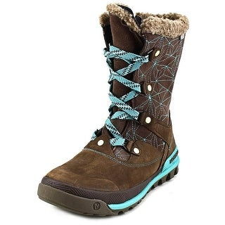 Merrell Silversun Lace Women Round Toe Synthetic Gray Winter Boot
