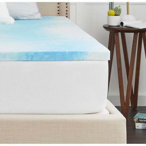 "2"" SealyChill Gel Memory Foam Mattress Topper with Cover"