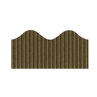 Bordette Scalloped Decorative Border Roll, 2-1/4 Inch x 50 Feet, Brown