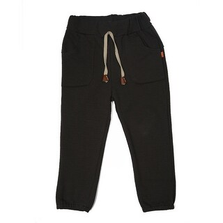 TG2601 Unisex Children's Cotton Trousers Linen Pants Spring Autumn Trousers Warm and Soft Brown