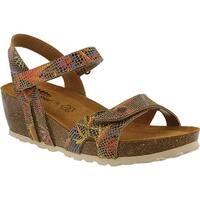 Spring Step Women's Charanga Wedge Sandal Beige Leather