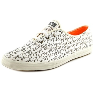 Keds Champion Botanical Women Round Toe Canvas White Sneakers