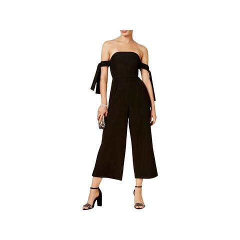 Endless Rose Womens Jumpsuit Off-The-Shoulder Wide Leg