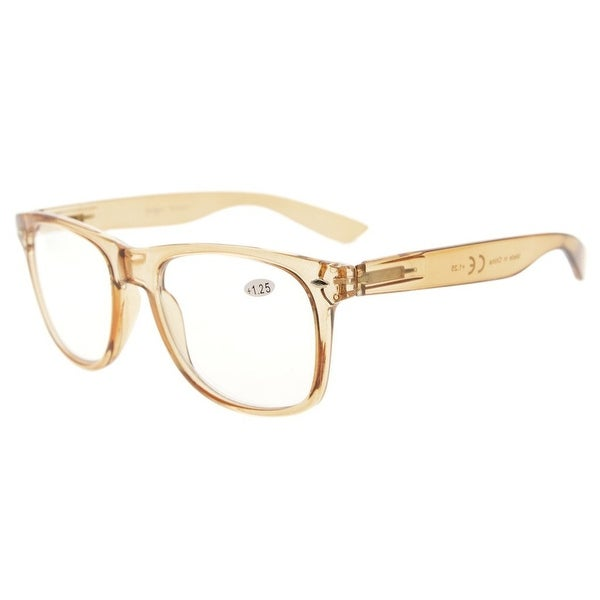 81fce0369a2c Eyekepper Comfortable Readers Spring Hinges Large Simple Reading Glasses RX  Magnification (Brown, +1.75. Click to Zoom