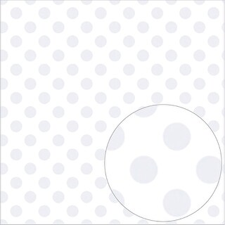 "White - Bazzill Printed Acetate Dots Sheets 12""X12"""