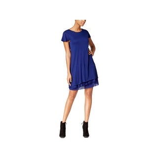Kensie Womens Casual Dress Tiered Short Sleeves (3 options available)