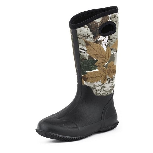 Roper Outdoor Boots Womens Camo Rubber Black