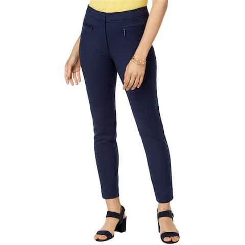 Maison Jules Womens Stretch Casual Trouser Pants