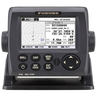 Furuno FA170 Class A AIS Transponder with 4.3 Color LCD Display and 3 Ports
