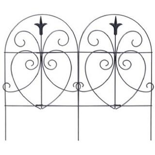 Panacea 89379 18 x 8 ft. Black Romantic Style Folding Fence