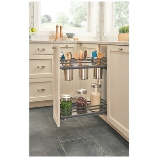 """Rev-A-Shelf 5322UT-BCSC-6-FOG  5322UT Series 9"""" Two Tier Pull Out Base Organizer with Two Shelves and Blumotion Slides"""