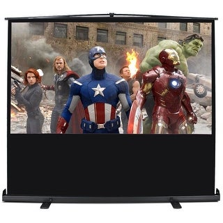 Arksen 100 Inch 16:9 Ratio Home Movie Theater Projector with Floor StandEntertainment Screen and Aluminium Case