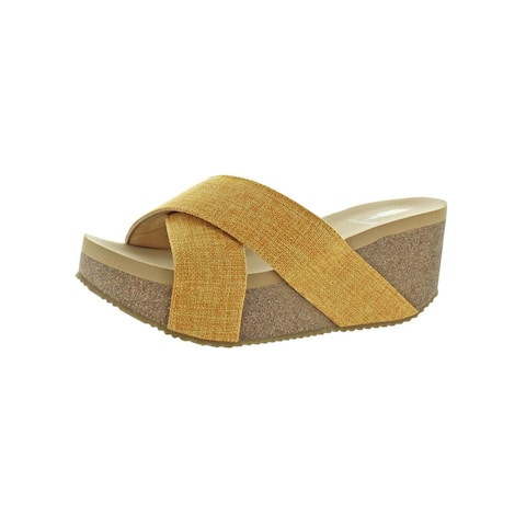 759f9c7a4 Volatile Womens Mantle Wedge Sandals Canvas Criss-Cross