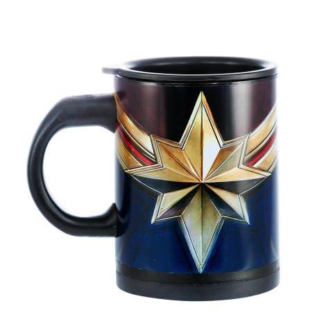 Captain Marvel I AM Series Self Stirring Mug - Blue