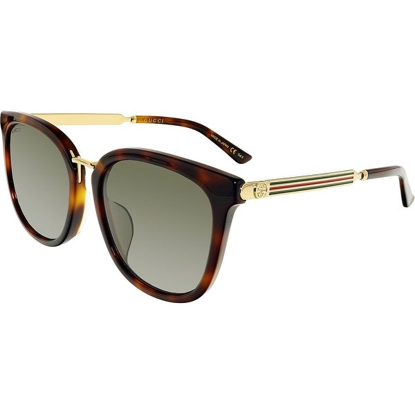 a5af2942562 Shop Gucci GG0079SK-004-5 Brown Butterfly Sunglasses - Free Shipping Today  - Overstock - 18900966