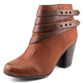 Material Girl Womens Mini Almond Toe Ankle Fashion Boots