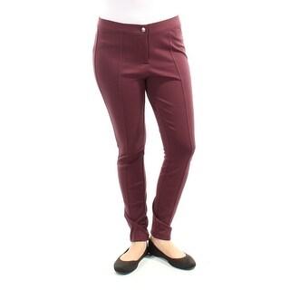 Womens Burgundy Casual Leggings Size 0