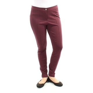 Womens Burgundy Casual Leggings Size 2