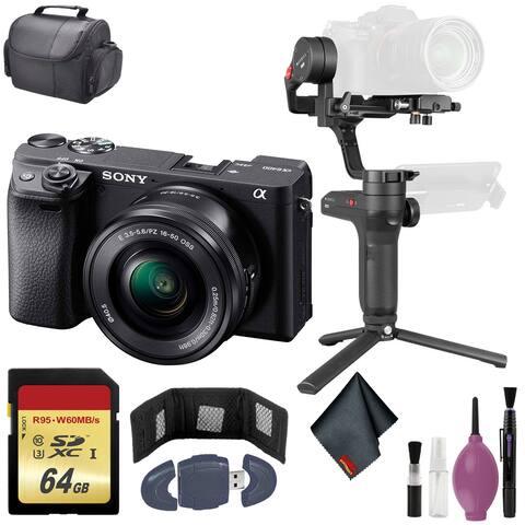 Sony Alpha a6400 Camera with 16-50 Len - Zhiyun-Tech Stabilizer - 64GB