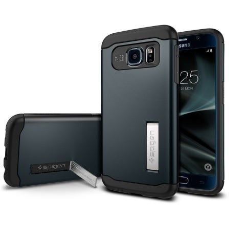 Spigen, Inc. - Slim Armor Samsung Galaxy S7 Edge in Metal Slate