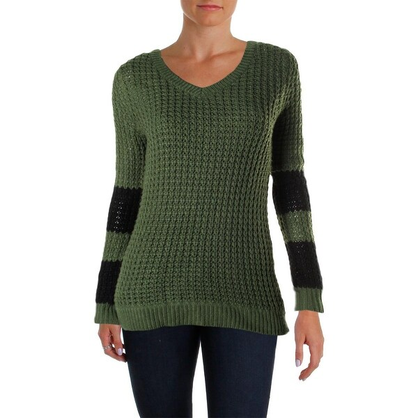 Ultra Flirt Womens Juniors Pullover Sweater Knit Open Stitch