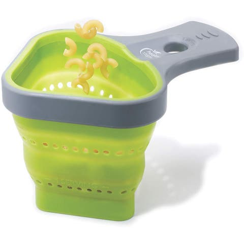 Jokari Healthy Steps Pasta Portion Control Collapsible Silicone Strainer Basket