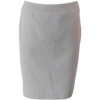 Tahari ASL Womens Petites Seersucker Striped Pencil Skirt