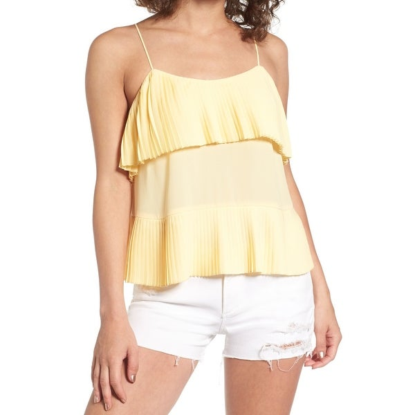 Leith Women's Large Pleated Popover Crepe Cami Top $49