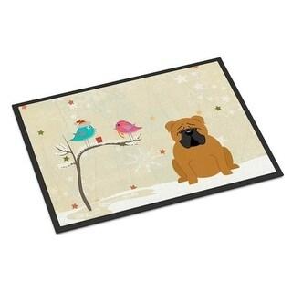Carolines Treasures BB2594JMAT Christmas Presents Between Friends English Bulldog Red Indoor or Outdoor Mat 24 x 0.25 x 36 in.