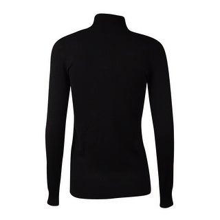 Calvin Klein Women's Mock Neck Long Sleeve Knit Sweater