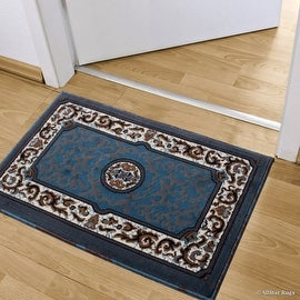 """Allstar Doormat Accent Rug Woven High Quality High Density Double Shot Drop-Stitch Carving (2' 0"""" x 3' 3"""")"""