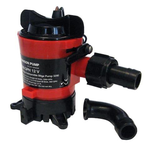 """Johnson Pump 750 GPH Bilge Pump 3/4"""" Hose 12V Dura Port"""