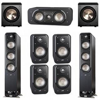 Polk Audio Signature 7.2 System with 2 S60 Speakers, 1 Polk S30, 4 Polk S20 Speakers, 2 BIC/Acoustech PL-200 Sub